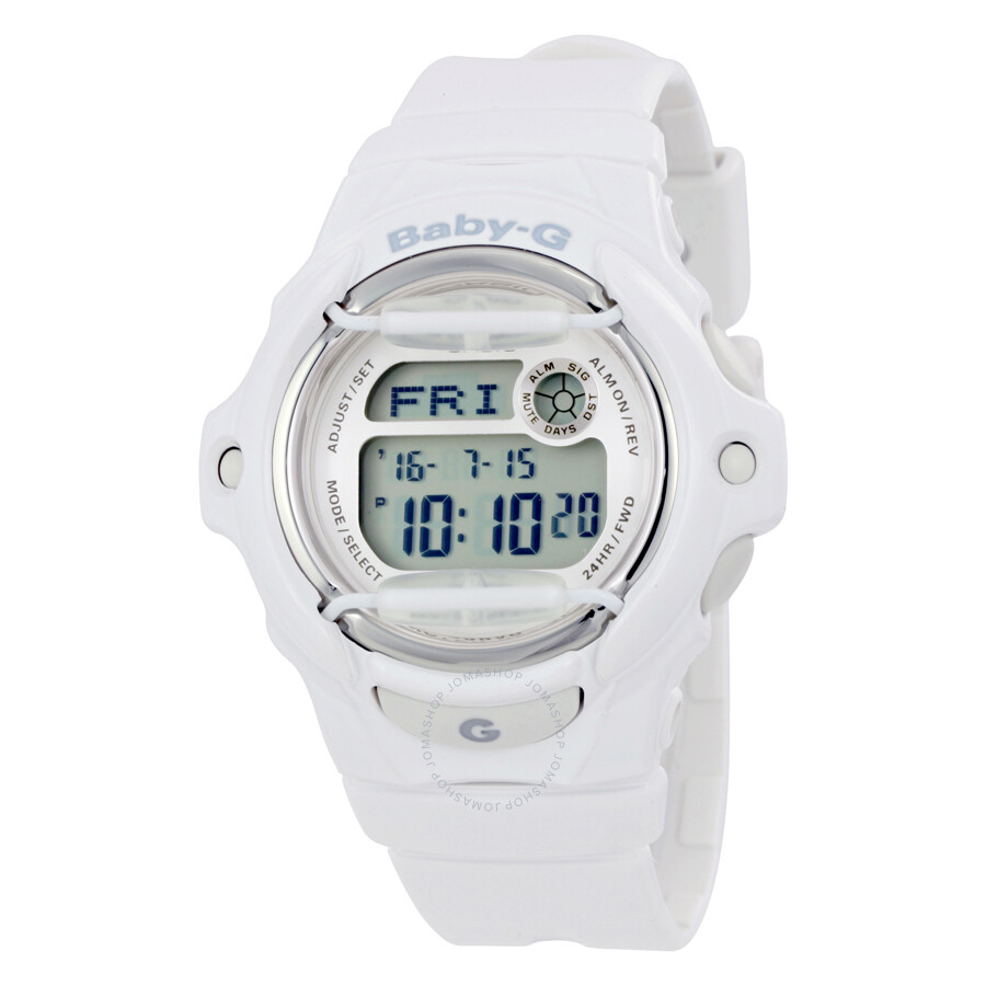 127c9c2516d8d Casio Baby G White Resin Digital Ladies Watch BG169R-7A - Baby-G ...