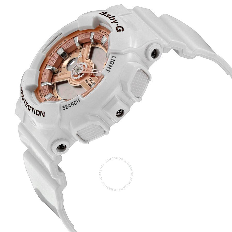 ceebc5e8b Casio Baby G White Resin Ladies Watch BA110-7A1 - Baby-G - Casio ...