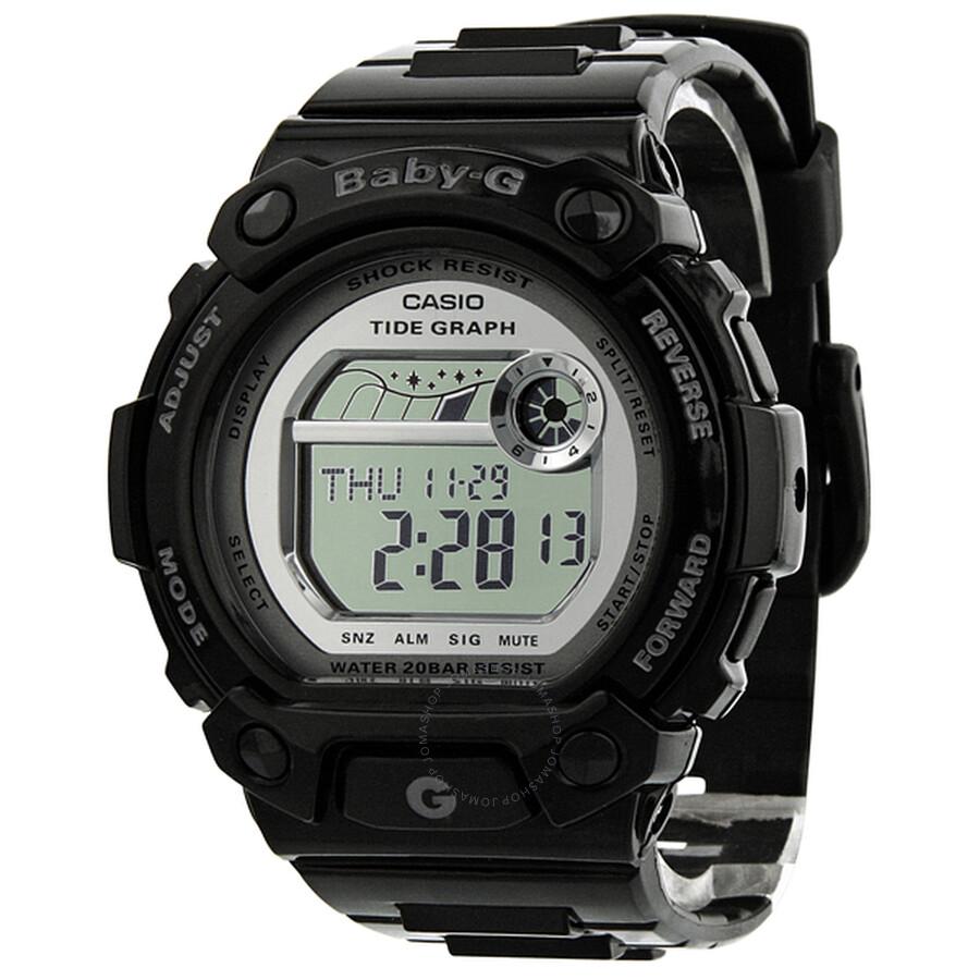 90205162663 Casio Baby-G G-LIDE Silver Dial Black Resin Digital Ladies Watch BLX103-