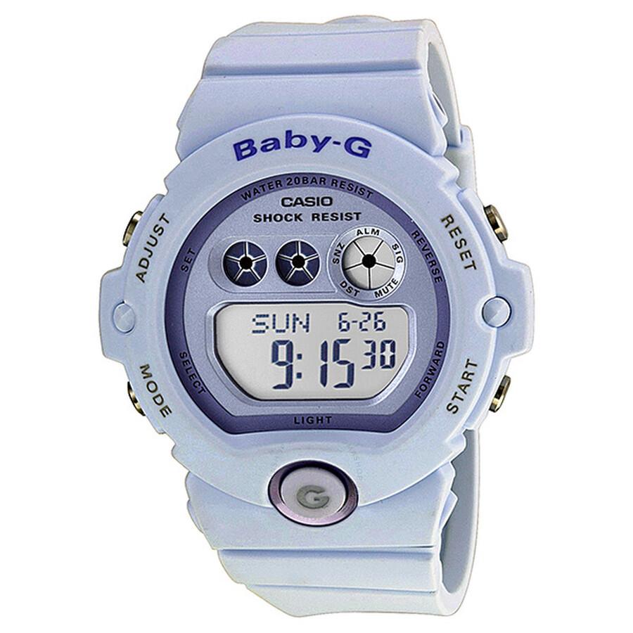 c03cf566f2c5 Casio Baby-G Metallic Purple Dial White Resin Ladies Watch BG6902-2CR ...