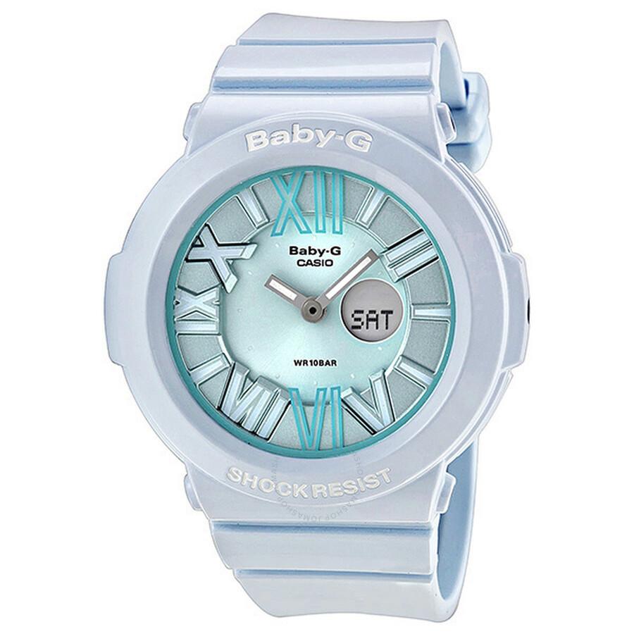 ac331c7db Casio Baby-G Multi-Function Analog-Digital Blue Dial White Resin Ladies  Watch ...