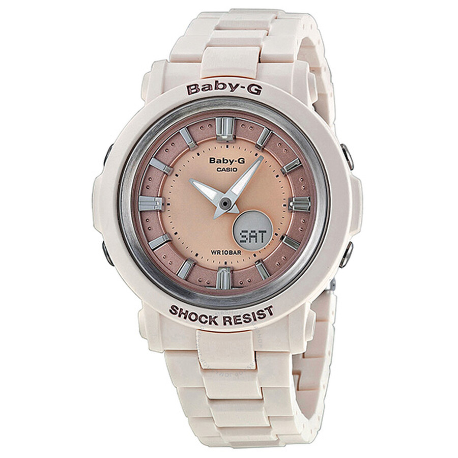 9a7fcf50d Casio Baby-G Multi-Function Analog-Digital Rose Gold Dial Ivory Resin Ladies  ...