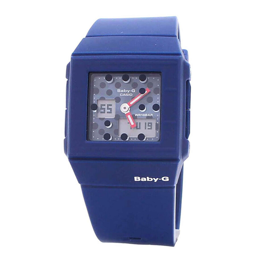 2e Hands Babykleding.Casio Baby G Navy Blue Dot Pattern Dial Ladies Sports Watch Bga200dt