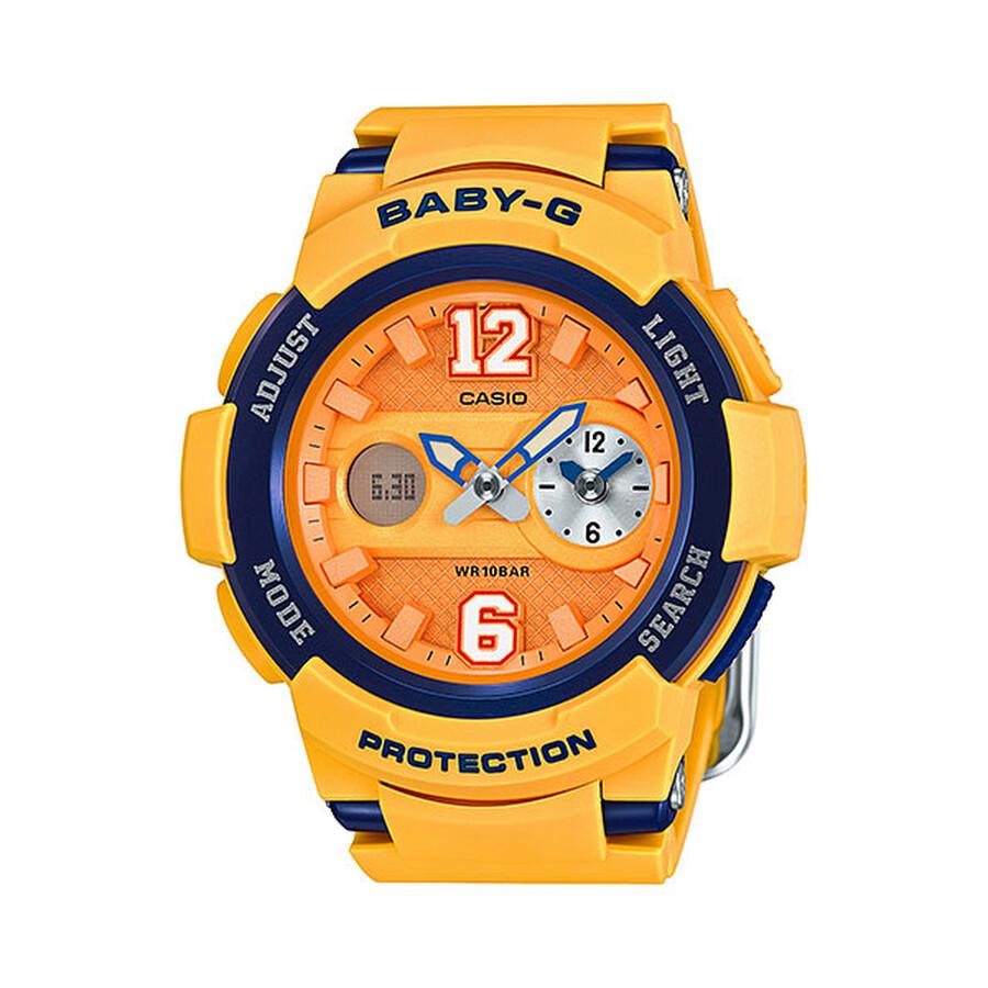 5a4a89f6594 Casio Baby-G Yellow Dial Ladies Sports Watch BGA-210-4B - Baby-G ...