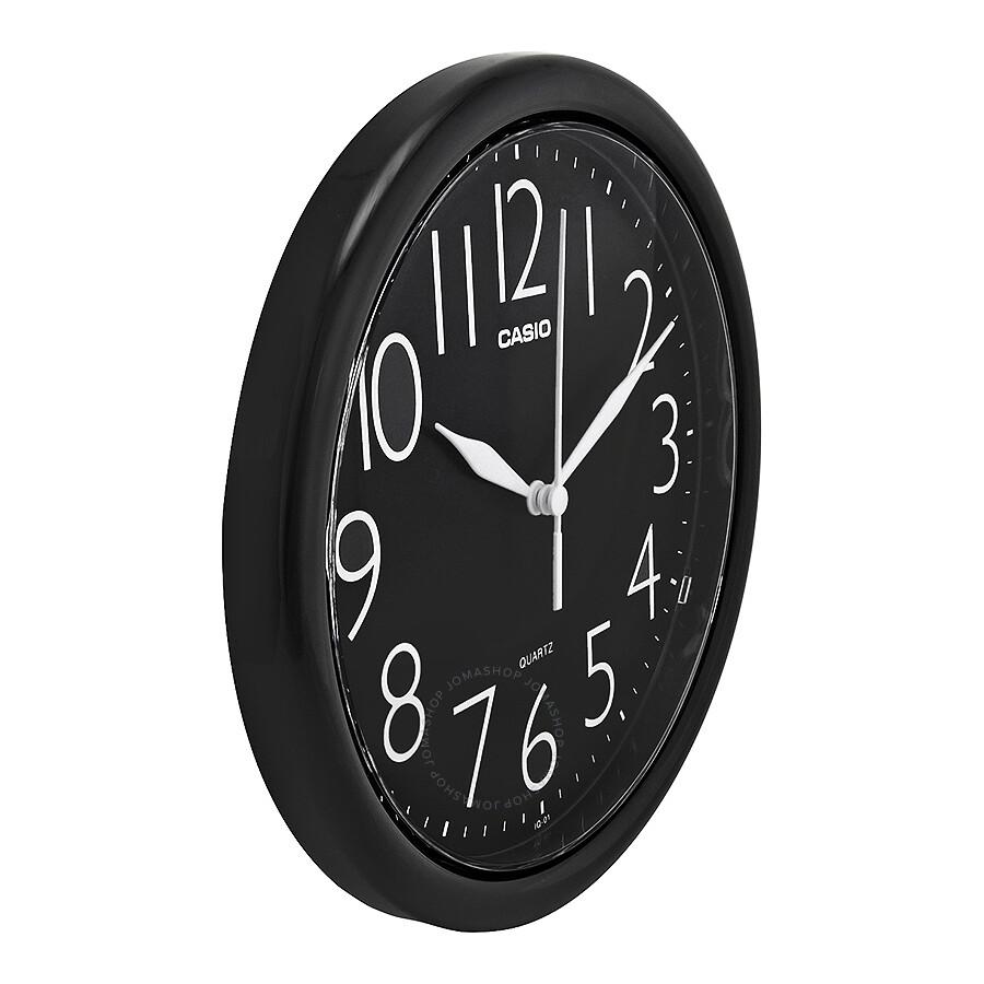 Casio Black Dial Round Wall Clock IQ-01-1R - Clock