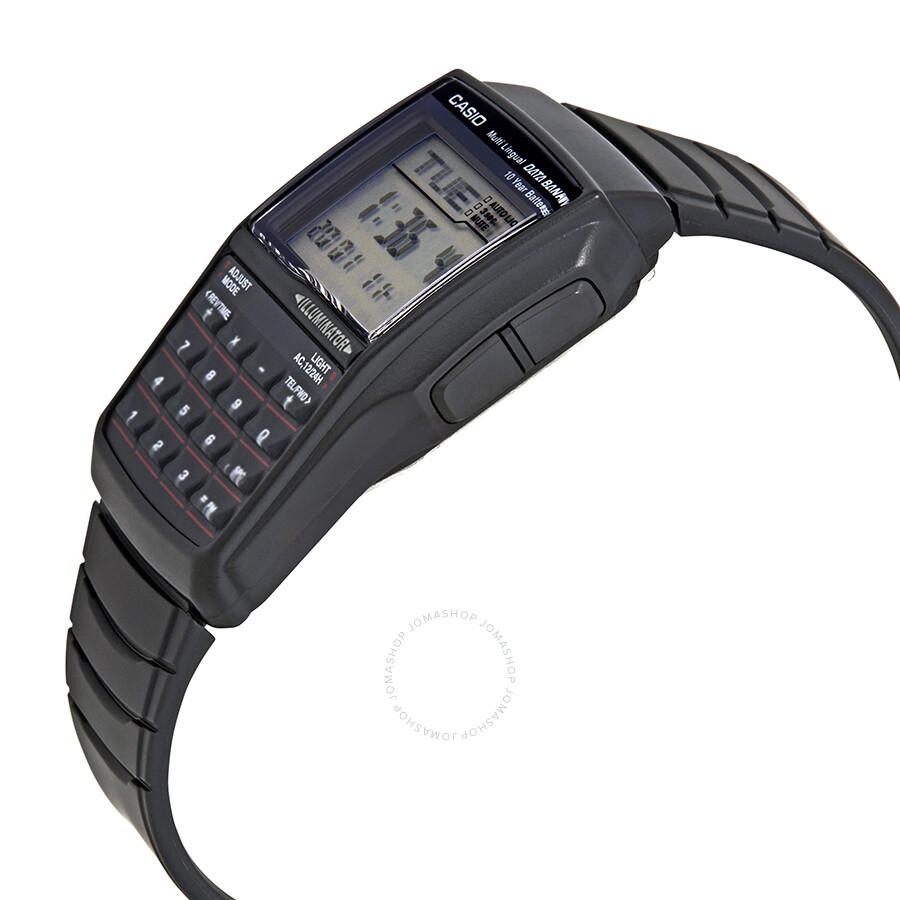 Casio Databank Calculator Unisex Black Resin Digital Watch Dbc32 1