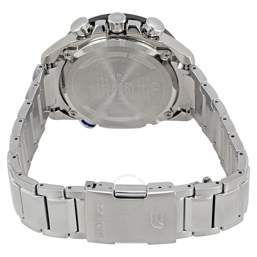 Casio Edifice Black Dial Mens Watch Eqb 501xdb 1acf 543d Stainless Silver Chrono Men