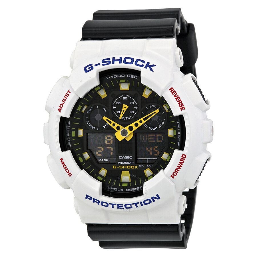 20e8e13acf20 Casio G Shock Analog Digital Dial Black Resin Men s Watch GA100-7ACR ...