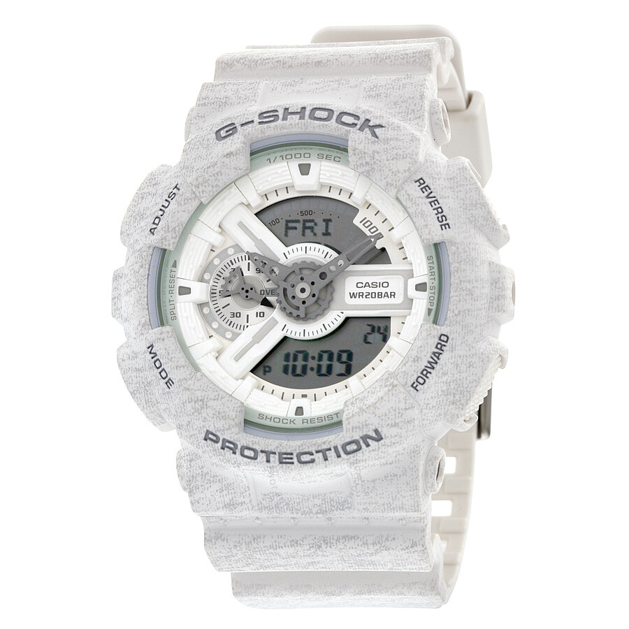 dd0e2f9b2 Casio G-Shock Analog-Digital White Heather Pattern Resin Men s Watch  GA110HT-7A ...