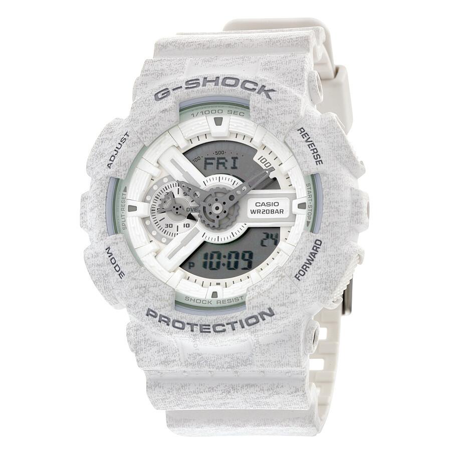 ba3cfdb6e437 Casio G-Shock Analog-Digital White Heather Pattern Resin Men s Watch  GA110HT-7A ...