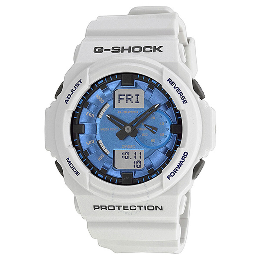 cded859a105 Casio G Shock Anti-magnetic Blue Dial White Resin Men s Watch GA150MF-7ACR  ...