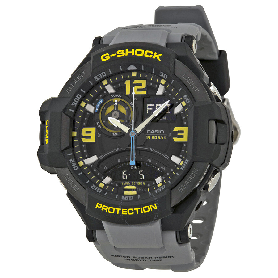 Casio g shock compass aviation series men 39 s watch ga 1000 8a g shock casio watches jomashop for Watches g shock