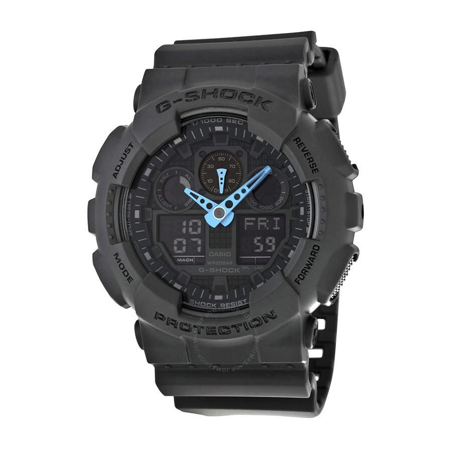 97c9e94274ad Casio G Shock Grey Dial Resin Men's Watch GA100C-8ACR - G-Shock ...