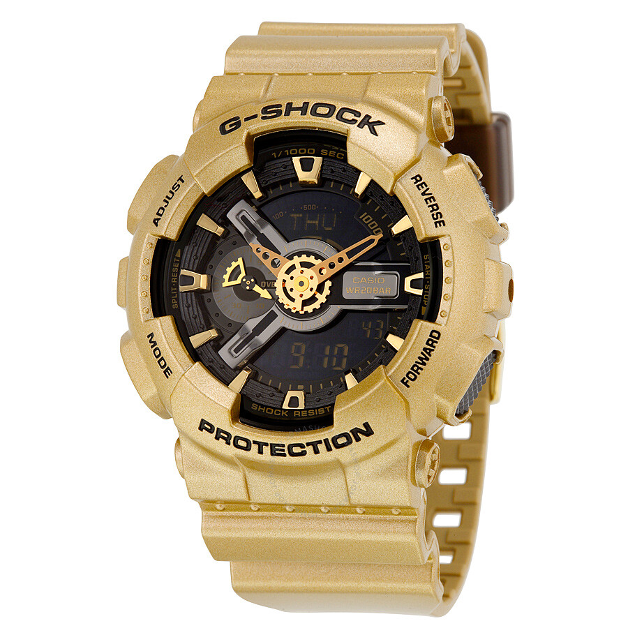 casio g shock black gold colored resin s
