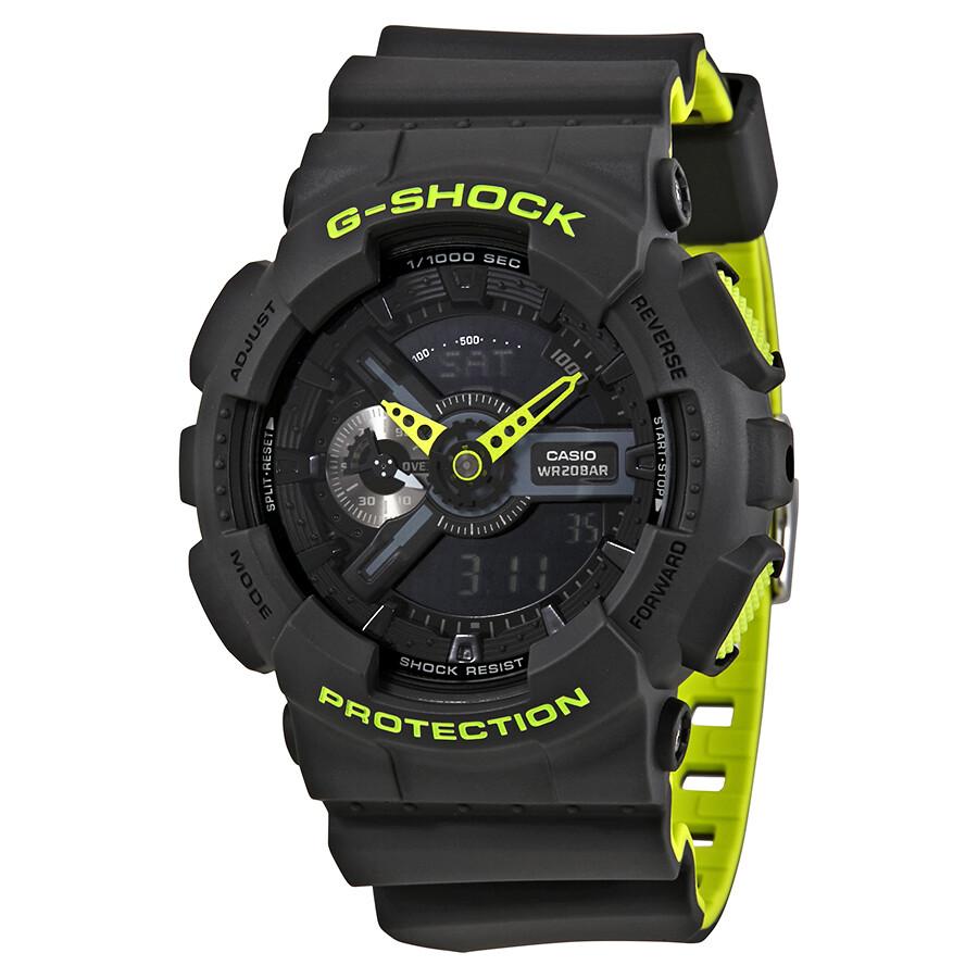 casio g shock black s neon sports ga110ln