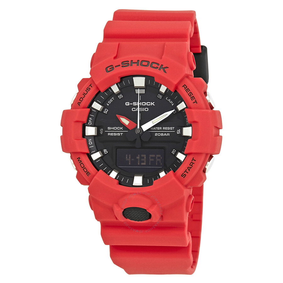 info for 14dab c8f60 Casio G-Shock Black Dial Men s Red Resin Watch GA-800-4ACR ...