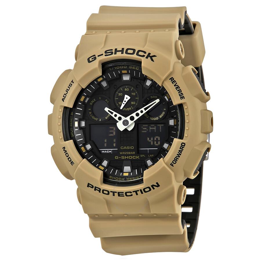 casio g shock black dial men 39 s sand beige sports watch. Black Bedroom Furniture Sets. Home Design Ideas