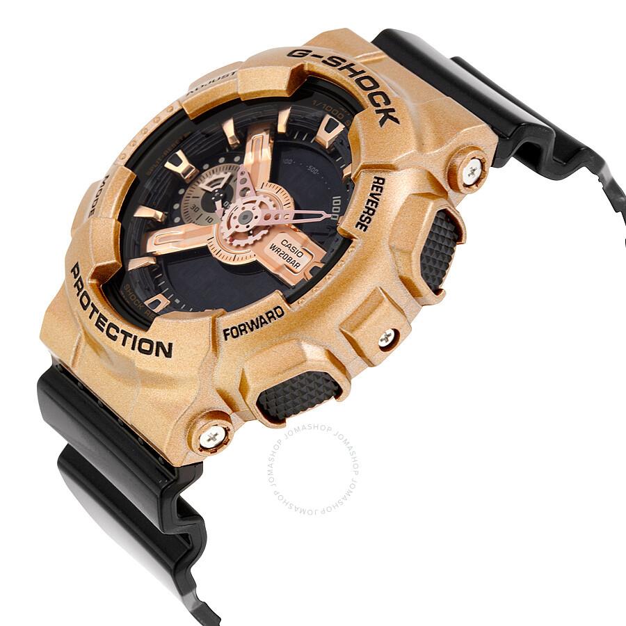 1cf1d15dfc0 ... Casio G-Shock Black Dial Rose Gold-Colored and Black Resin Men s Watch  GA110GD ...