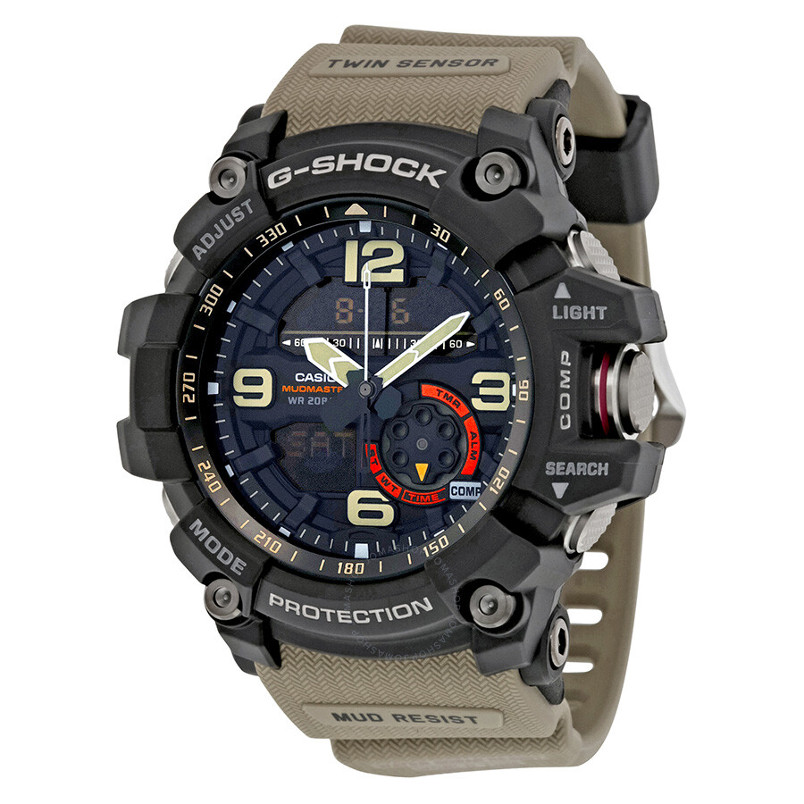 Casio g shock black dial tan resin strap men 39 s watch gg1000 1a5 g shock casio watches for Watches g shock