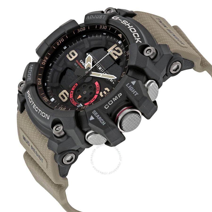 fa5aa9db27bb Casio G-Shock Black Dial Tan Resin Strap Men s Watch GG1000-1A5 - G ...
