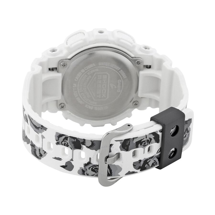 5d36c456942 Casio G-Shock Black Dial White Resin Men s Watch GMA-S110F-7A - G ...