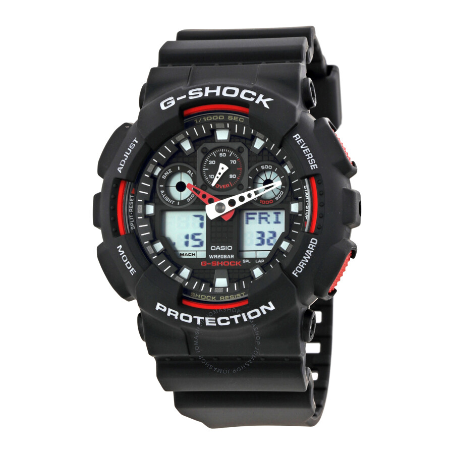 92b597f96f1 Casio G-Shock Black Resin Strap Men s Watch GA100-1A4 - G-Shock ...