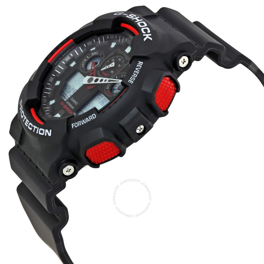 7275a11bde8b Casio G-Shock Black Resin Strap Men s Watch GA100-1A4 - G-Shock ...