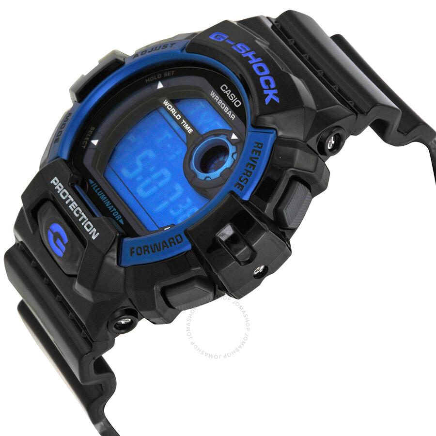 casio g shock blue dial black resin strap men 39 s watch. Black Bedroom Furniture Sets. Home Design Ideas