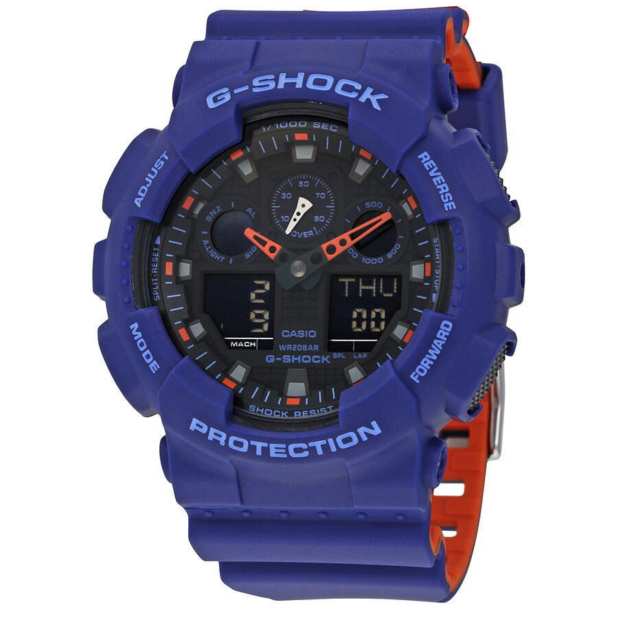 70b908cc980 Casio G-Shock Blue Resin Men s Watch GA100L-2A - G-Shock - Casio ...