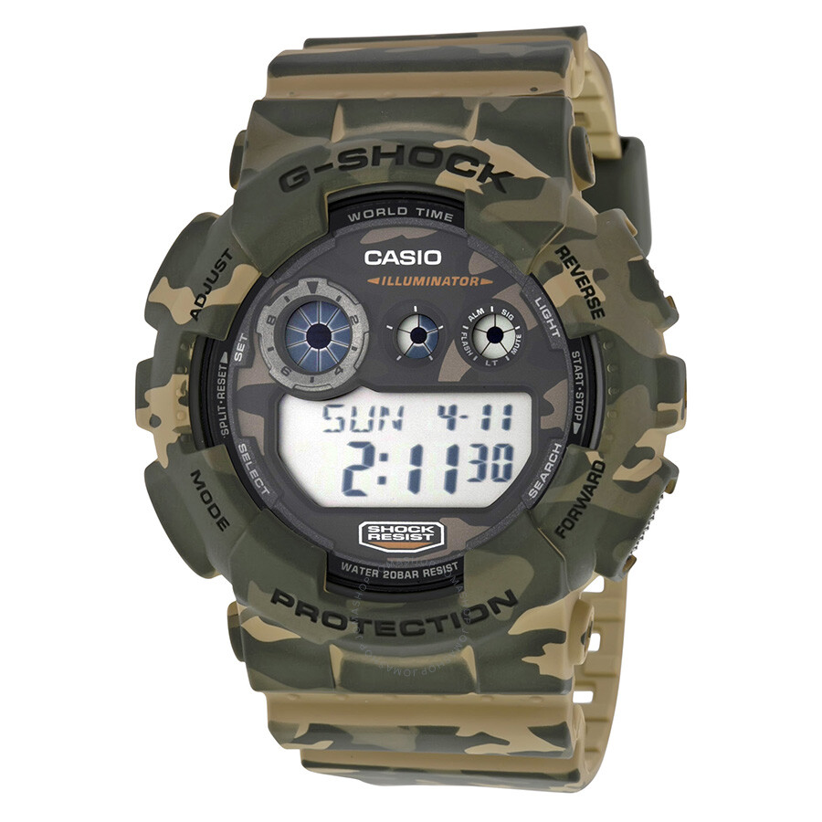 Casio g shock classic brown camouflage resin men 39 s watch gd120cm 5cr g shock casio watches for Watches g shock