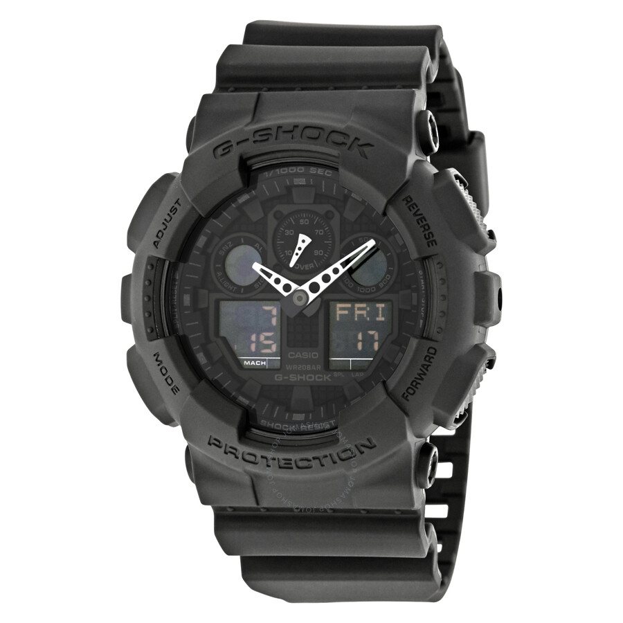 64cd2e175c42 Casio G-Shock Classic Series Analog-Digital Black Dial Men s Watch  GA100-1A1CR ...