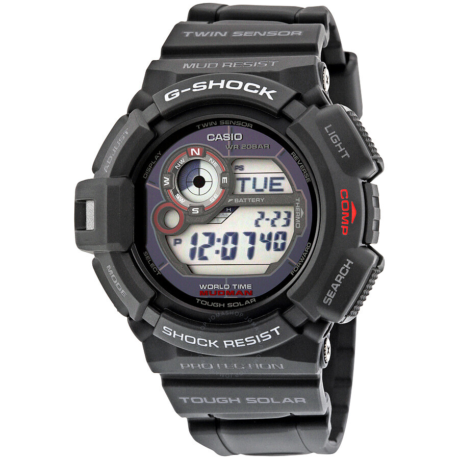 casio g shock digital black resin s g 9300