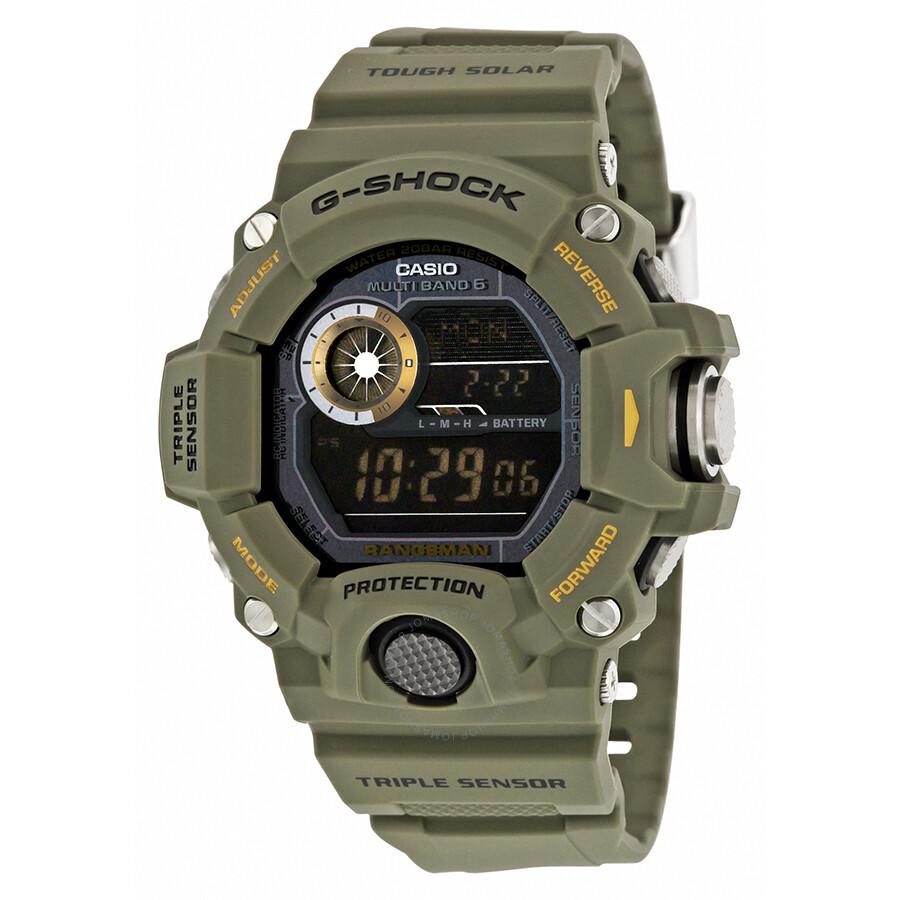 casio g shock digital dial green resin men 39 s watch gw9400. Black Bedroom Furniture Sets. Home Design Ideas