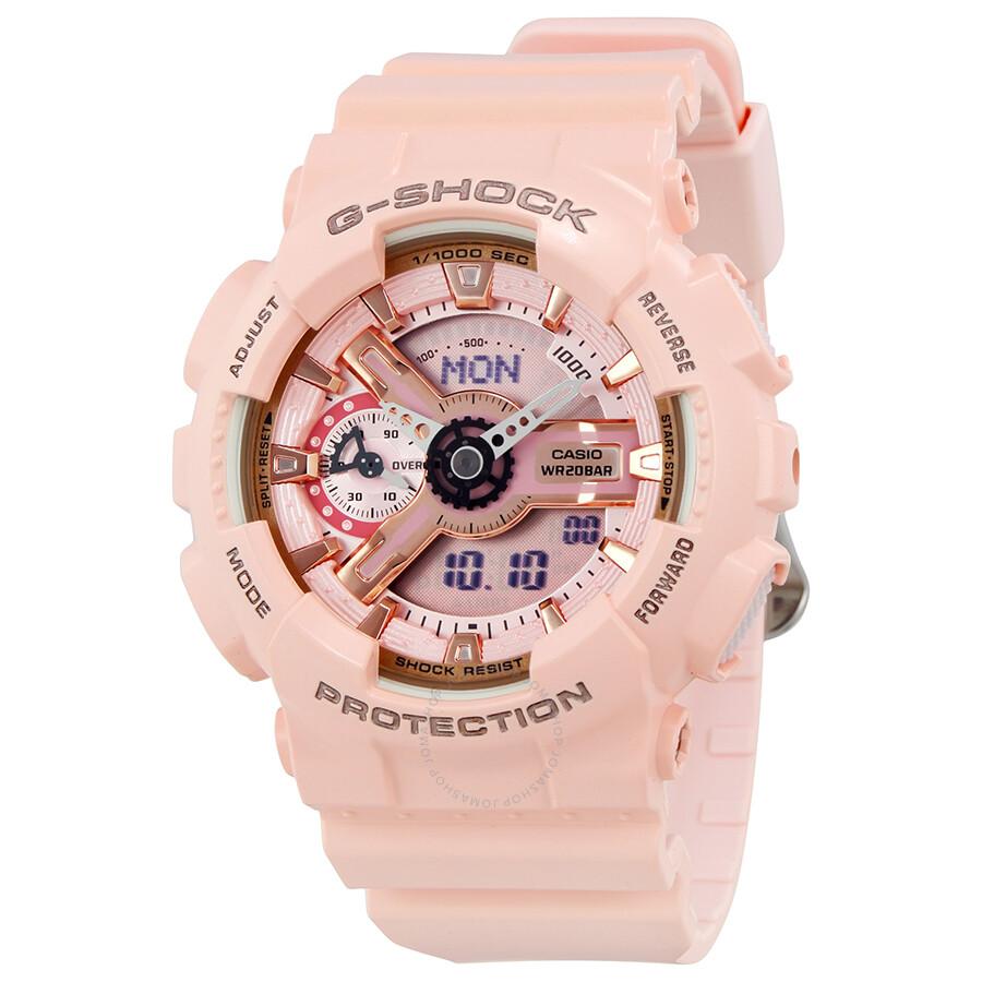 07bf79d6826bf Casio G-Shock Digital Dial Pink Resin Ladies Watch GMAS110MP-4A1 - G ...