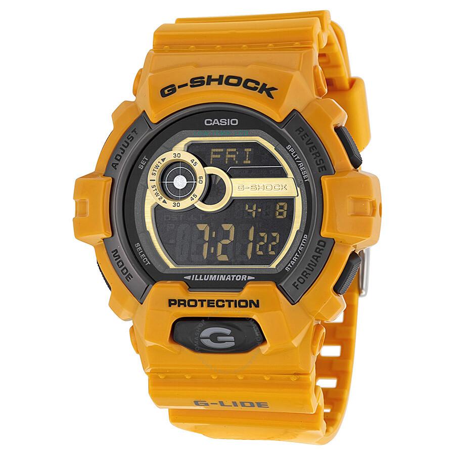 Casio G Shock G Lide Digital Dial Yellow Resin Men S Watch Gls8900 9cr