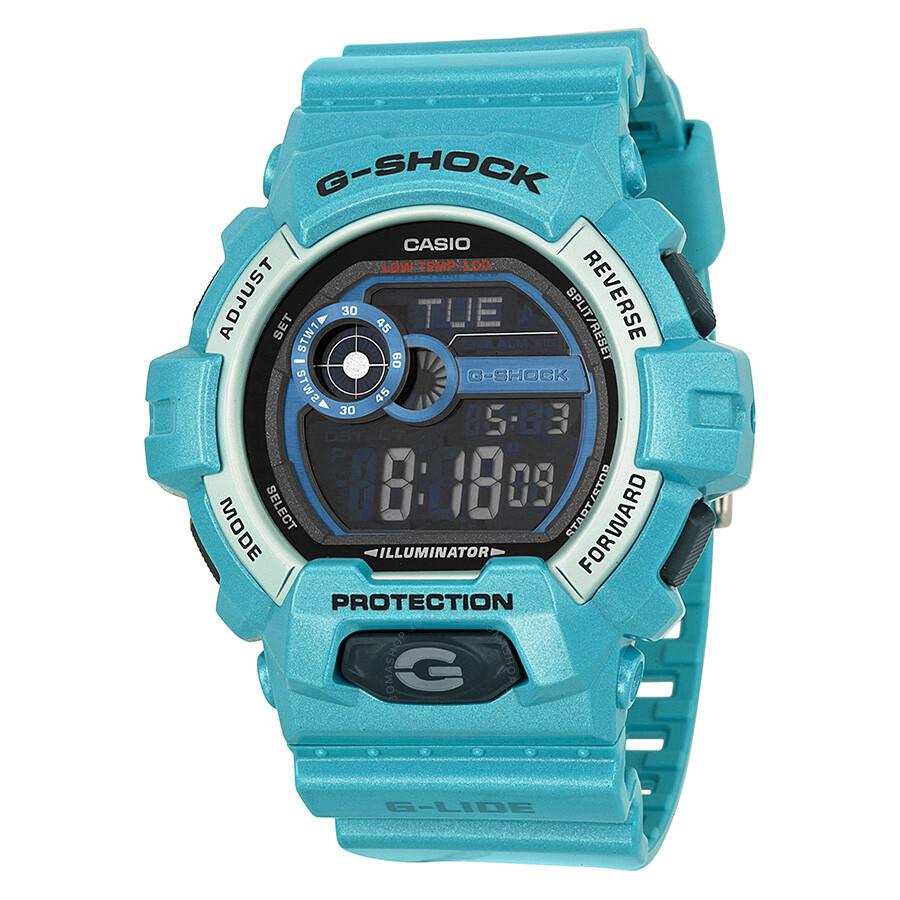 e184b3d62494 Casio G Shock G Lide Turquoise Blue Resin Men's Watch GLS8900-2CR ...