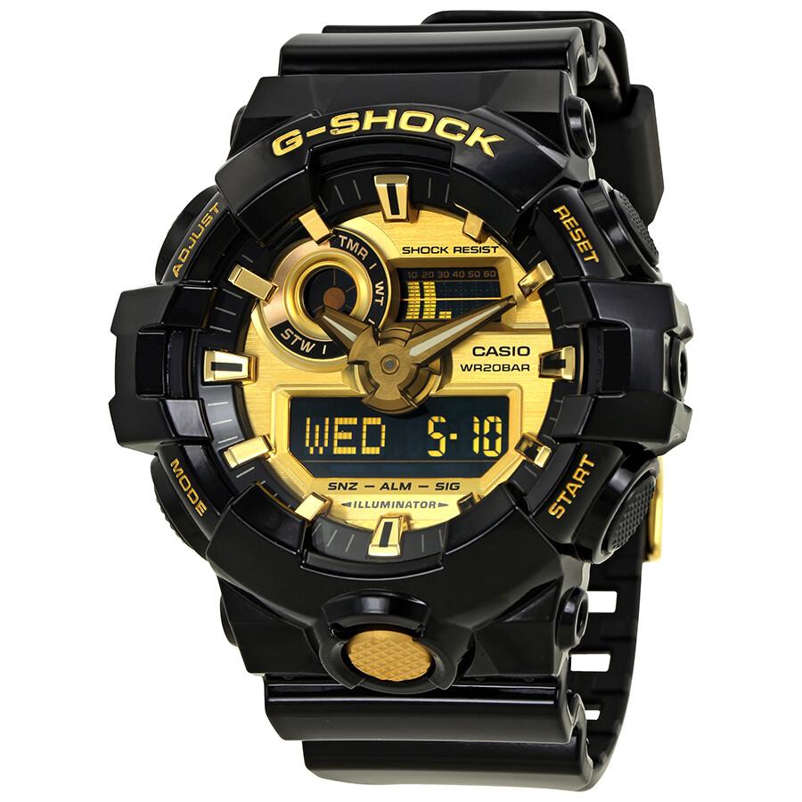 Casio G Shock Gold Tone Dial Black Resin Men S Watch Ga 710gb 1acr Ga 710gb 1acr Casio G Shock Jomashop