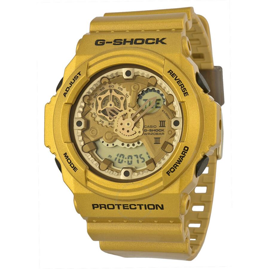 Casio G Shock Gold Tone Resin Men's Watch GA300GD-9A