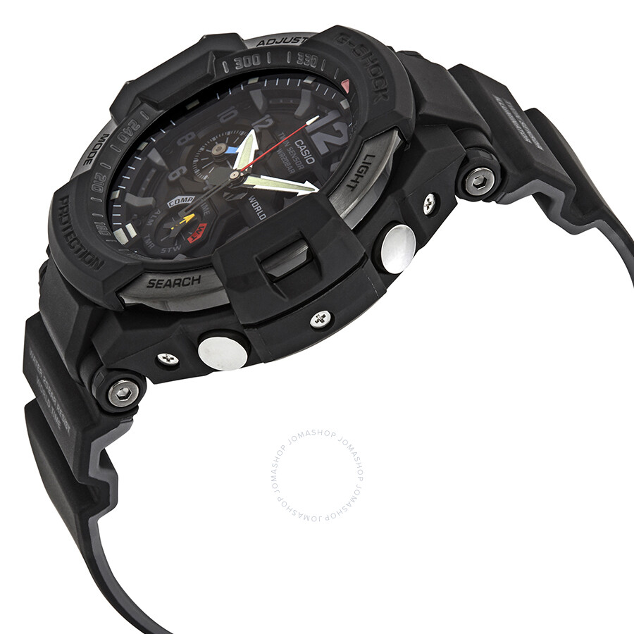 3fd313ad7930 ... Casio G-Shock Gravitymaster Alarm World Time Black Dial Men's Watch  GA1100-1A1 ...