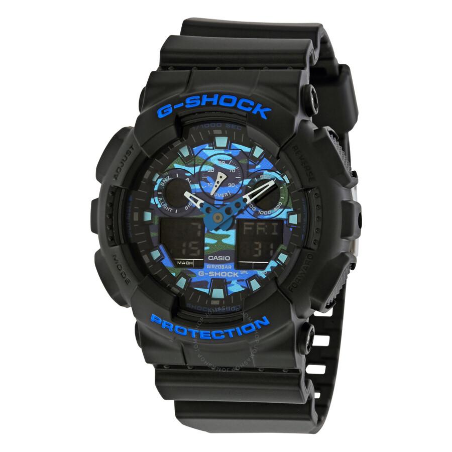 casio g shock men 39 s analog digital watch ga100cb 1a g. Black Bedroom Furniture Sets. Home Design Ideas