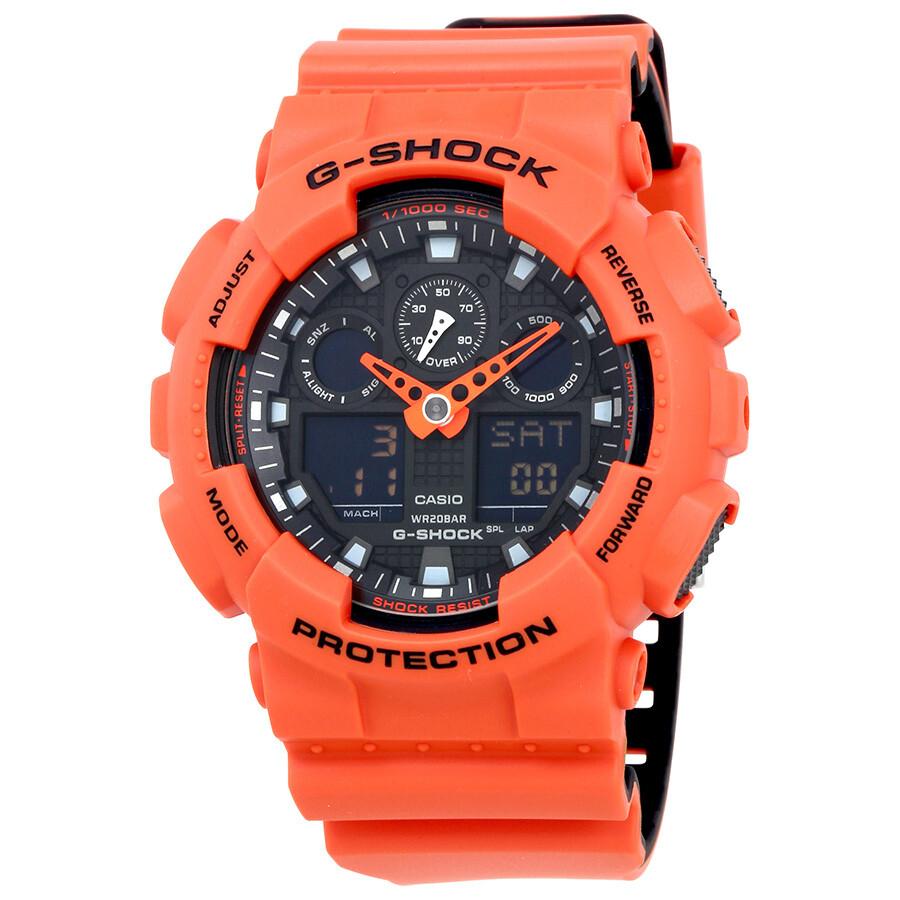c3e4f2848232 Casio G-Shock Men s Orange Resin Multifunction Watch GA100L-4A - G ...