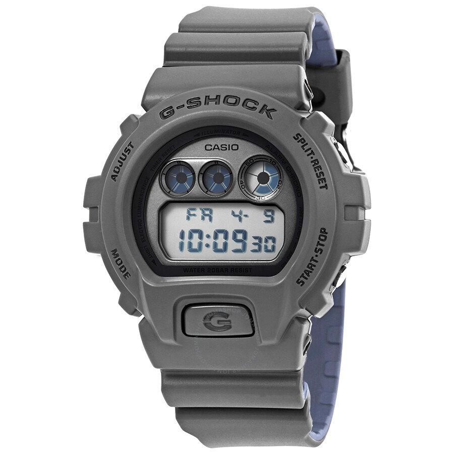 Casio g shock military grey and blue digital watch dw 6900lu 8cr g shock casio watches for Watches g shock