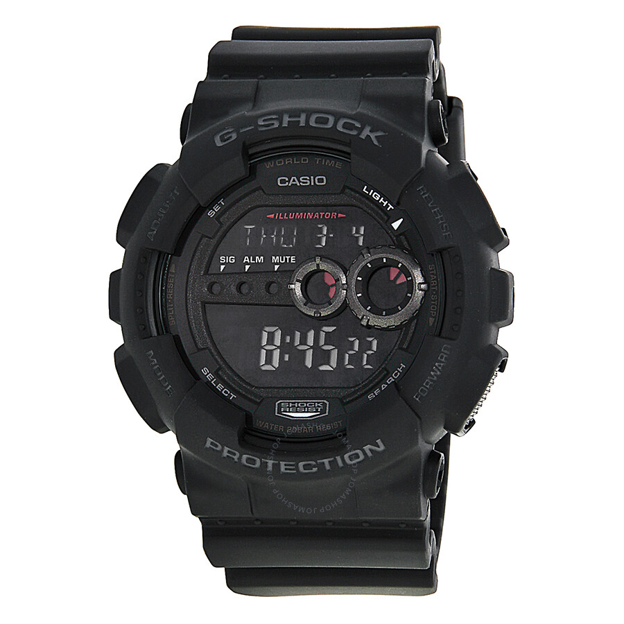 Casio g shock military men 39 s watch gd100 1b g shock casio watches jomashop for Watches g shock