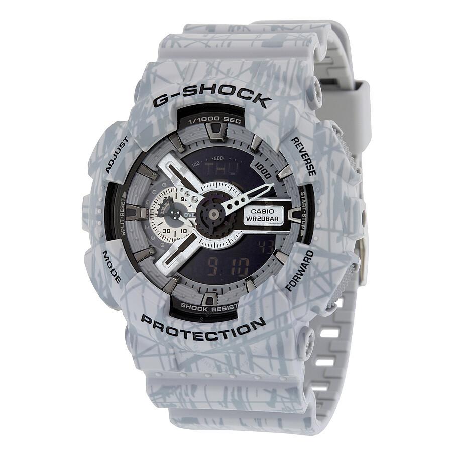 38d67b69339 Casio G-Shock Quartz Water Resistant Gray Men s Watch GA110SL-8A - G ...