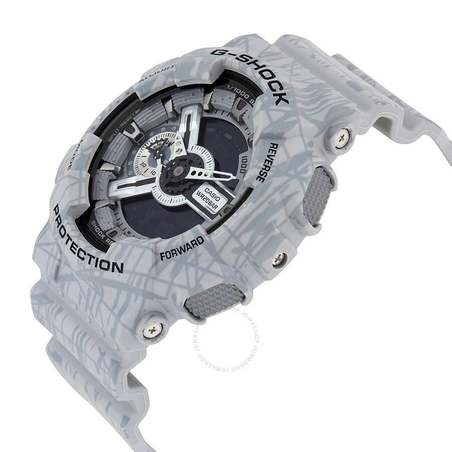 Casio G Shock Quartz Water Resistant Gray Mens Watch Ga110sl 8a Ga 1000 8adr