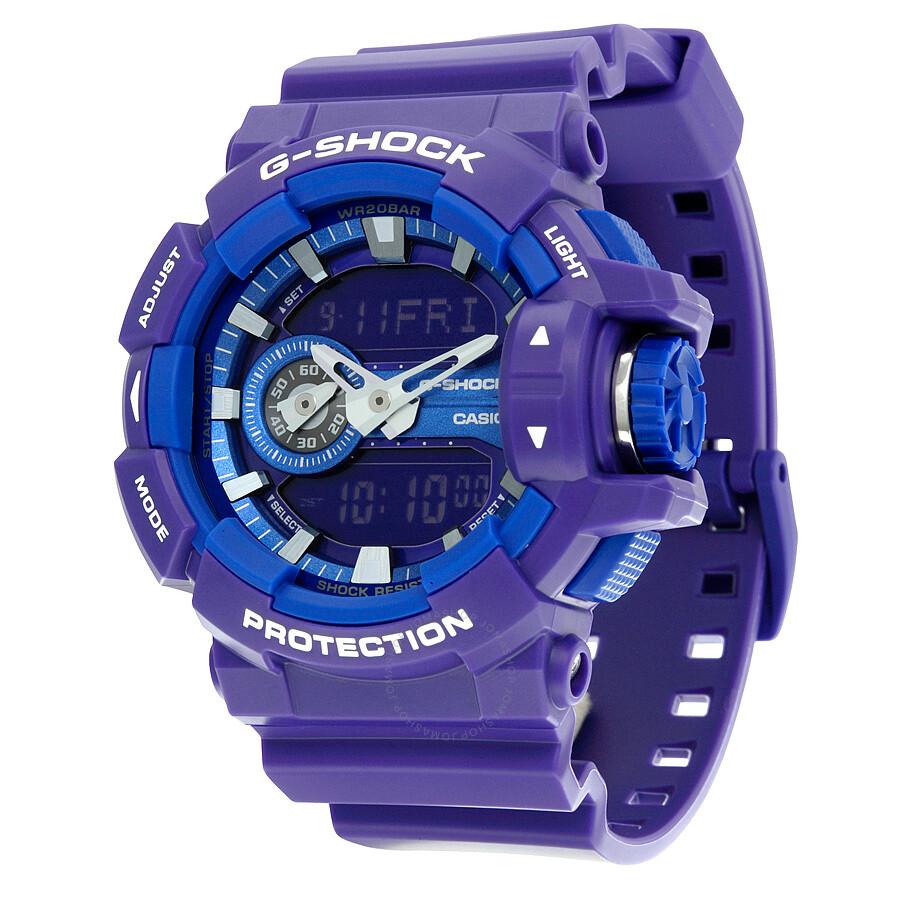 0ae4e53f376 Casio G-Shock Quartz Water Resistant Purple Resin Men s Watch GA400A-6A ...