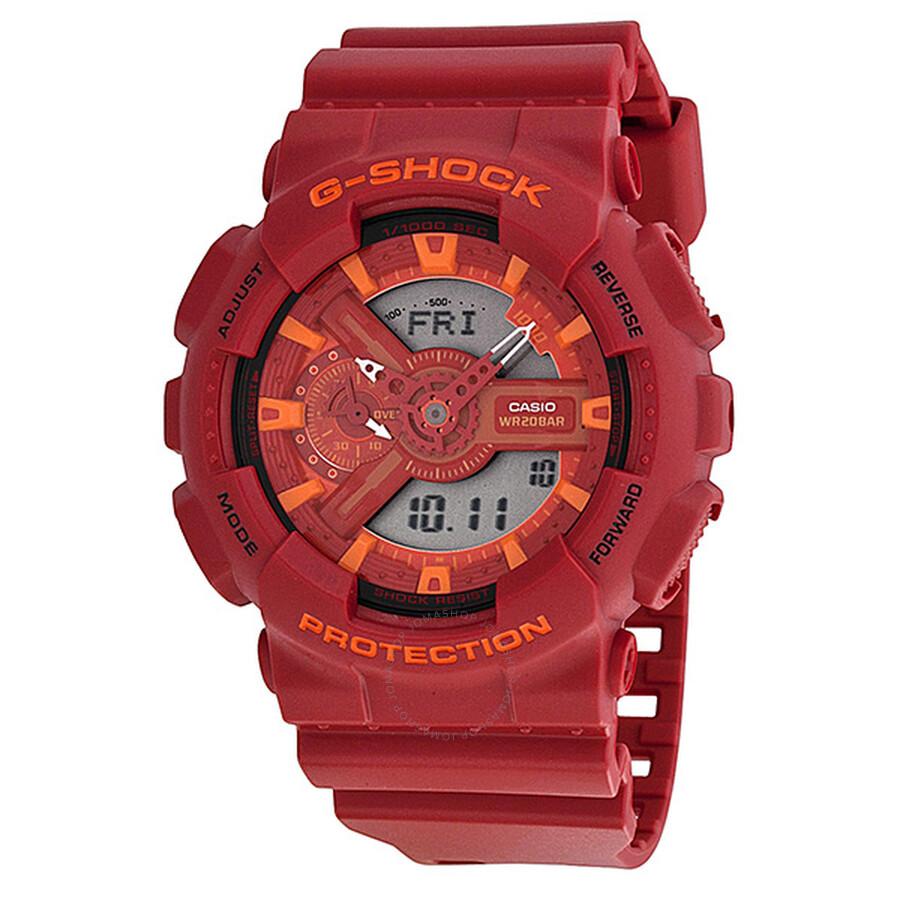 c93633b750bf Casio G Shock Red Dial Ted Resin Men s Watch GA110AC-4ACR - G-Shock ...