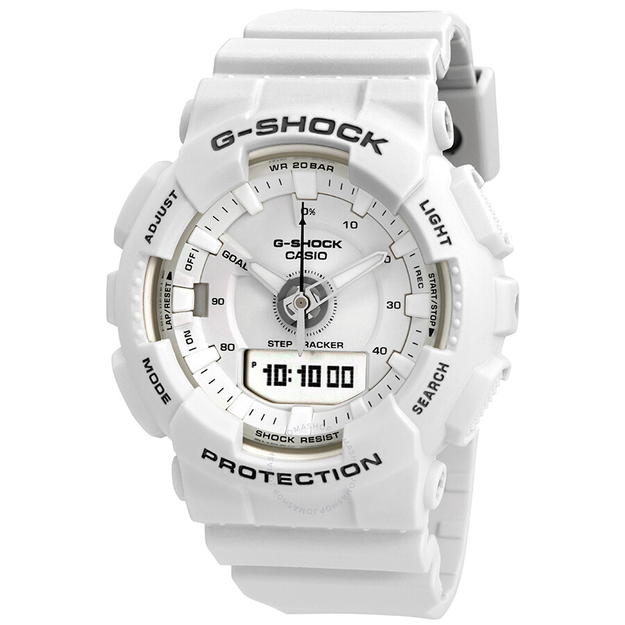 0825ef03dfb Casio G-Shock S Series Alarm White Dial Ladies Watch GMA-S130-7ACR ...
