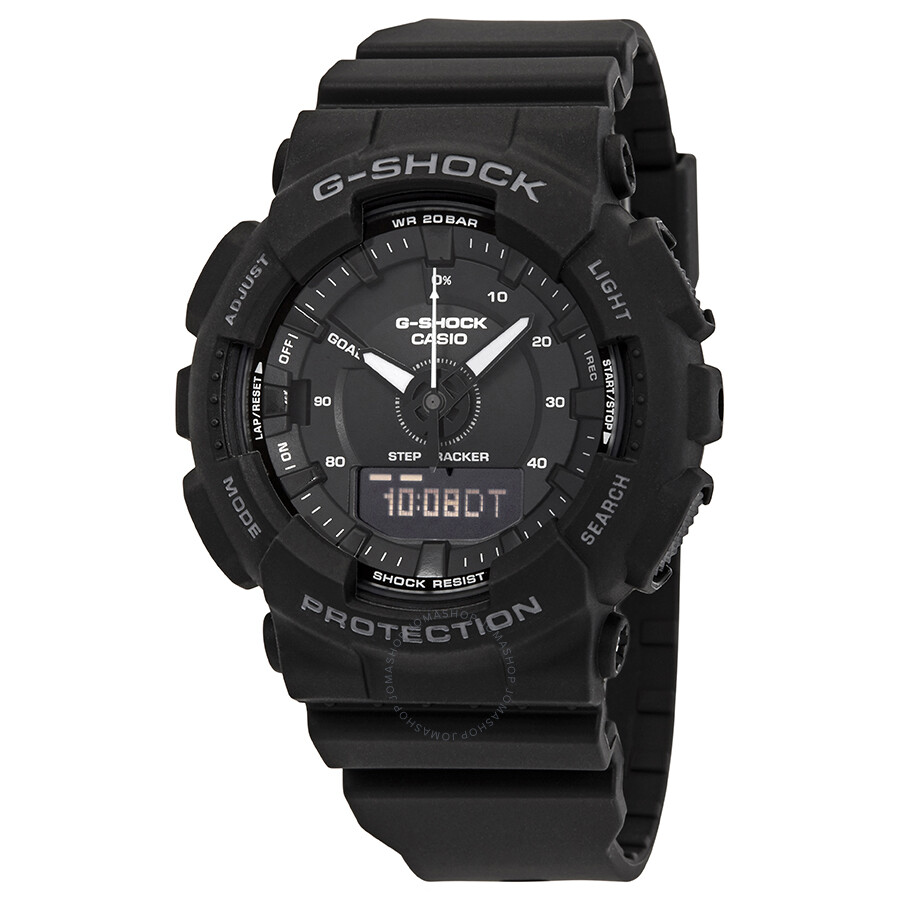 Casio G Shock S Series Black Dial Men S Analog Digital Watch Gmas130 1a