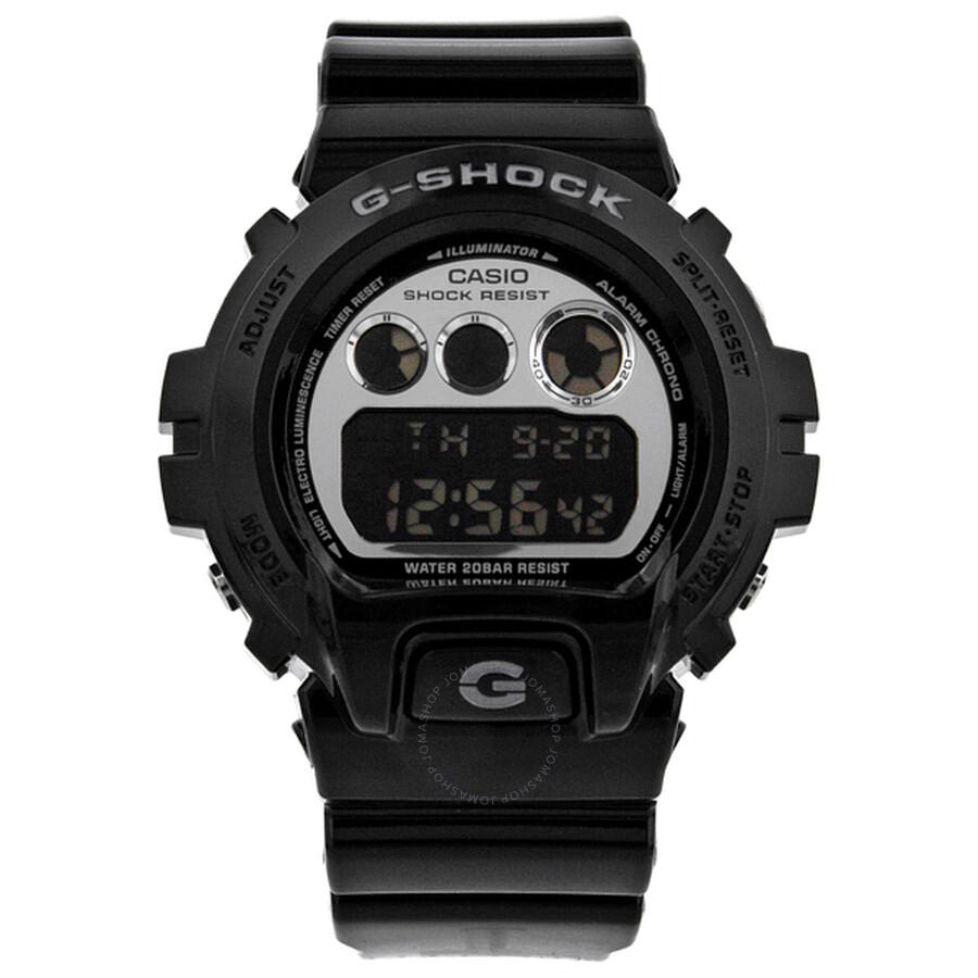 9bfed3b1ed96 Casio G Shock Silver Dial Black Resin Strap Men s Watch DW6900NB-1 ...
